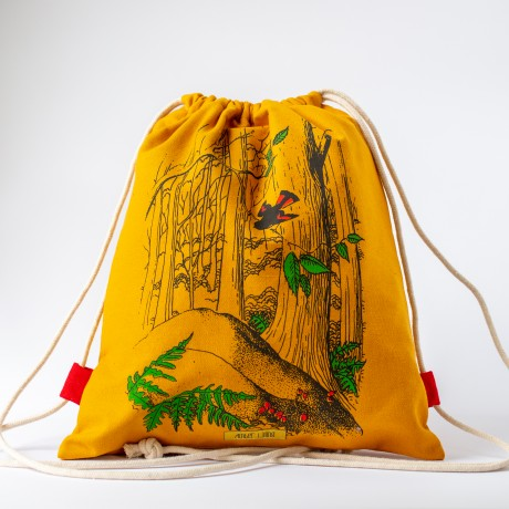תיק שרוך הדפס יער חרדל