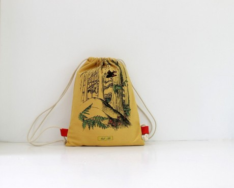 Bird drawstring bag